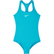 Nike Girls' Solid Racerback One Piece Swimsuit