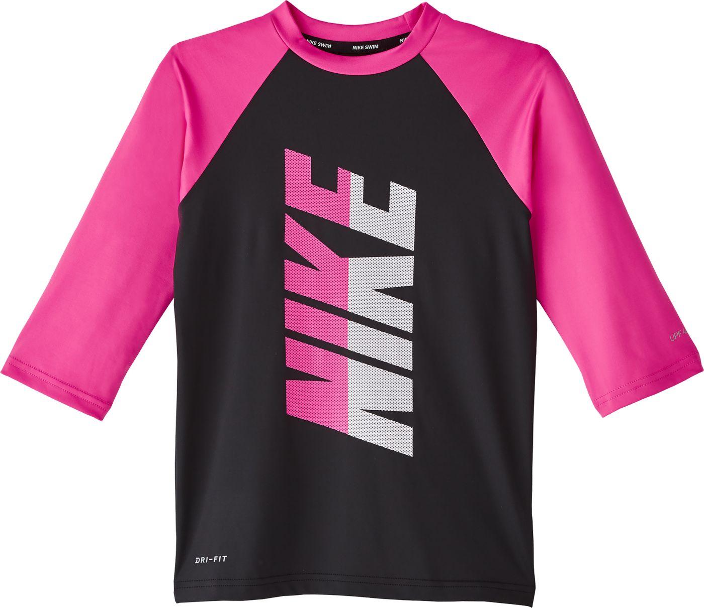 Nike Girls' Rift Short Sleeve Rash Guard