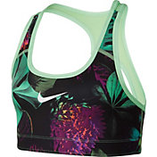 Nike Girls' Pro Glow Botanical Reversible Sports Bra