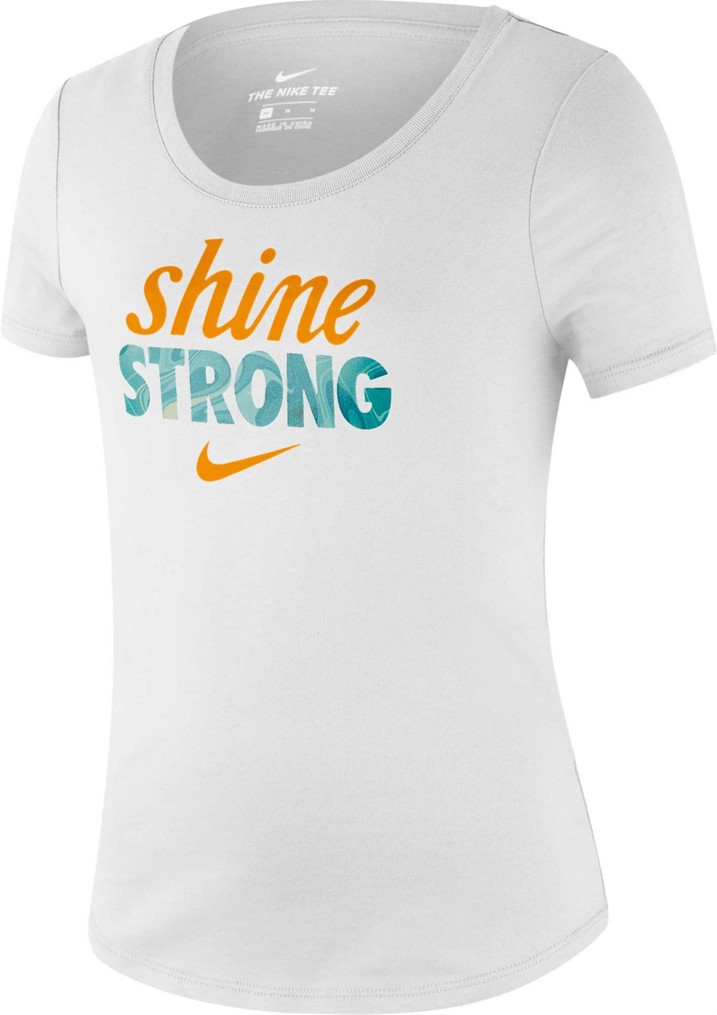 Nike Girls' Sportswear Shine Strong Graphic Tee