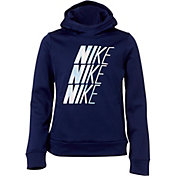 Nike Girls' Therma Unicorn Hooded Pullover