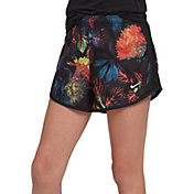 Nike Girls' Glow Botanical Tempo Shorts in Indigo Force/Black