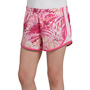 Nike Girls' Dry Wonderland Tempo Printed Shorts in Laser Fuchsia/Pink Foam