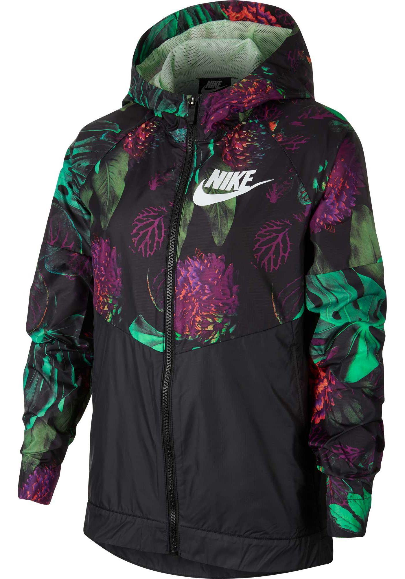 Nike Girls' Sportswear Printed Windrunner Jacket
