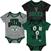 Outerstuff Infant Milwaukee Bucks 3-Piece Onesie Set