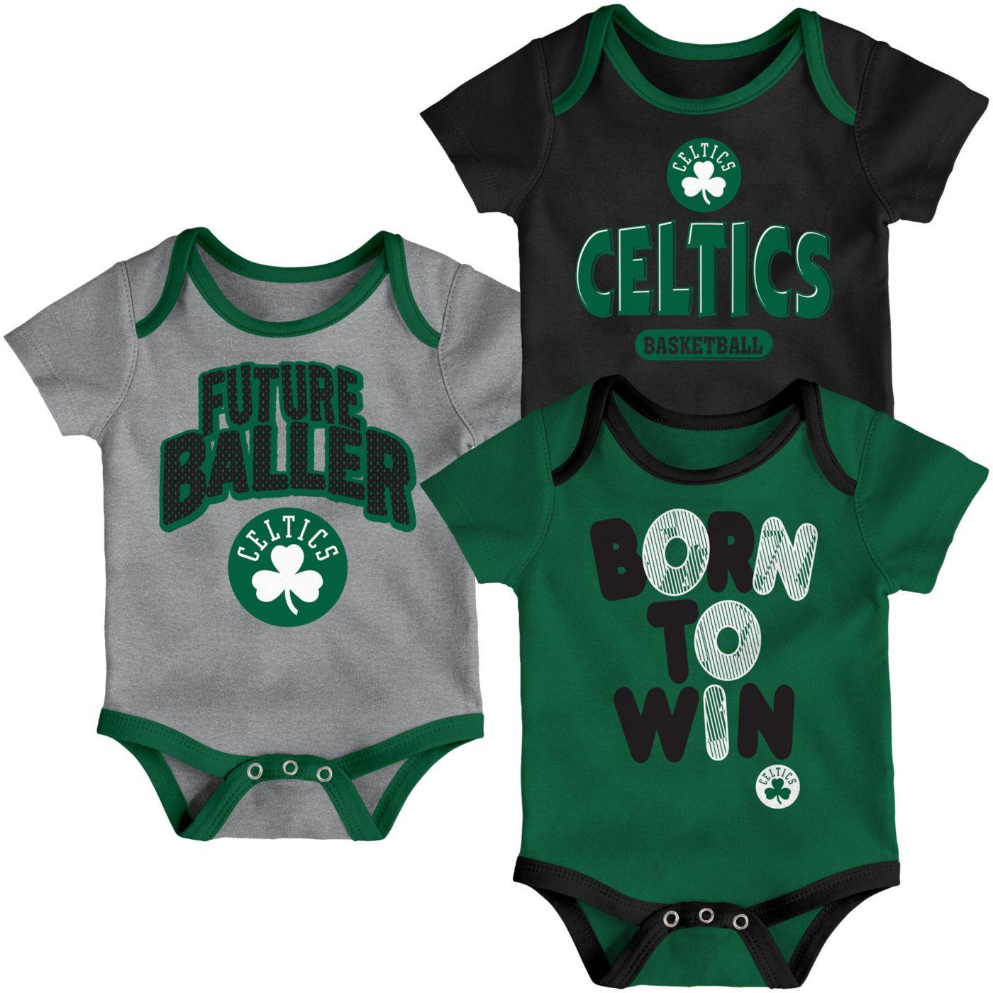 Outerstuff Infant Boston Celtics 3-Piece Onesie Set