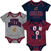 Outerstuff Infant Cleveland Cavaliers 3-Piece Onesie Set