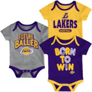 Outerstuff Infant Los Angeles Lakers 3-Piece Onesie Set
