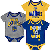Outerstuff Infant Golden State Warriors 3-Piece Onesie Set
