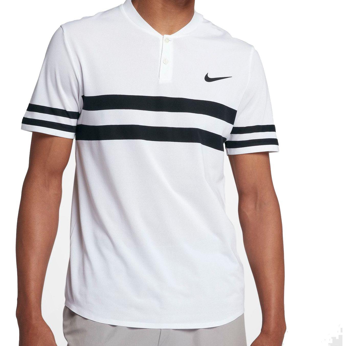 Nike Men's Court Advantage Stripe Tennis Polo