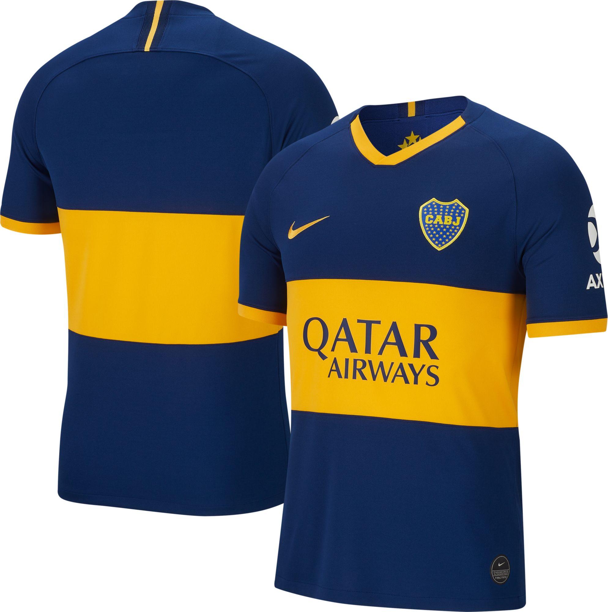 timeless design 8e76e 33be3 Nike Men's Boca Juniors '19 Breathe Stadium Home Replica ...
