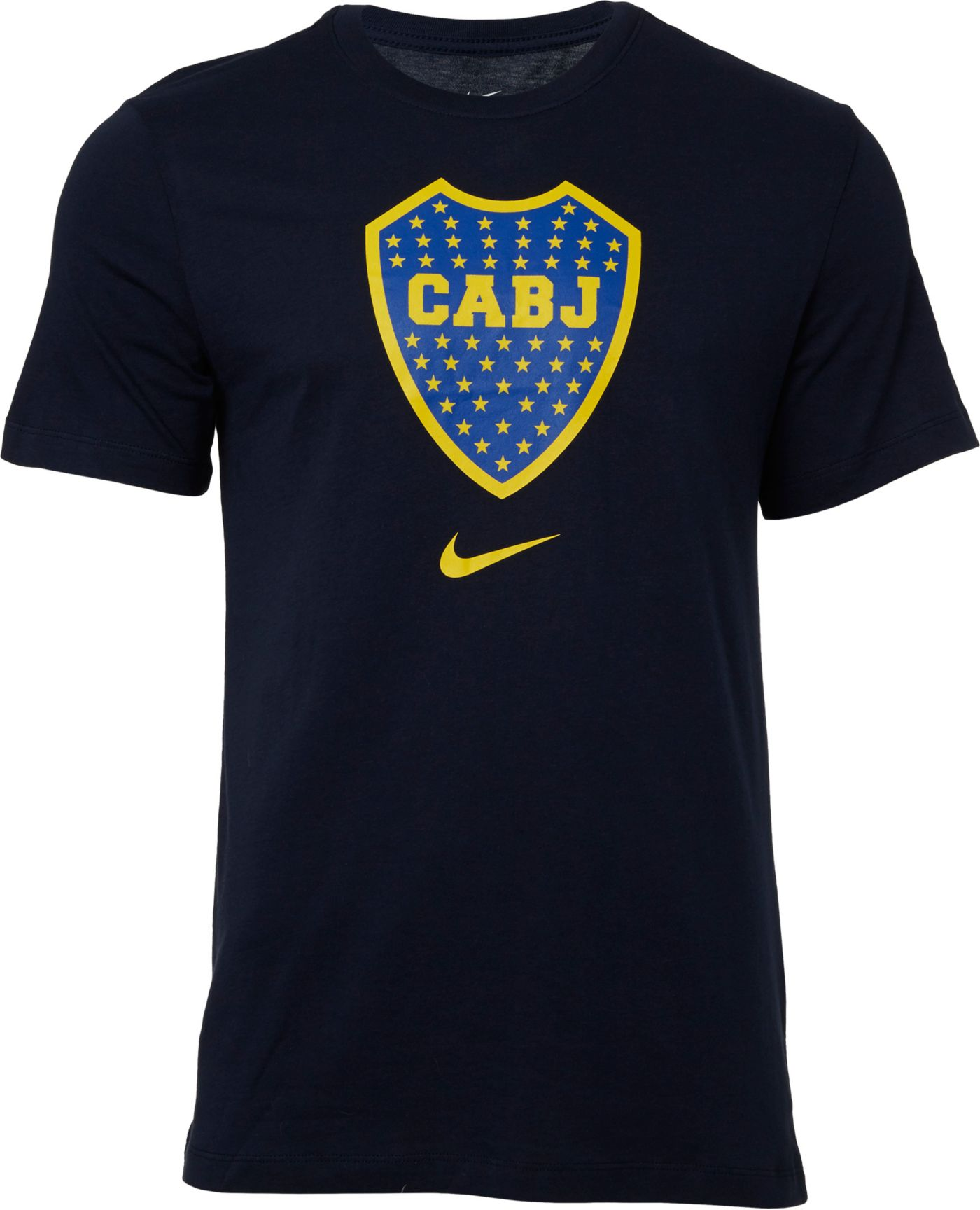 Nike Men's Boca Juniors '19 Crest Navy T-Shirt