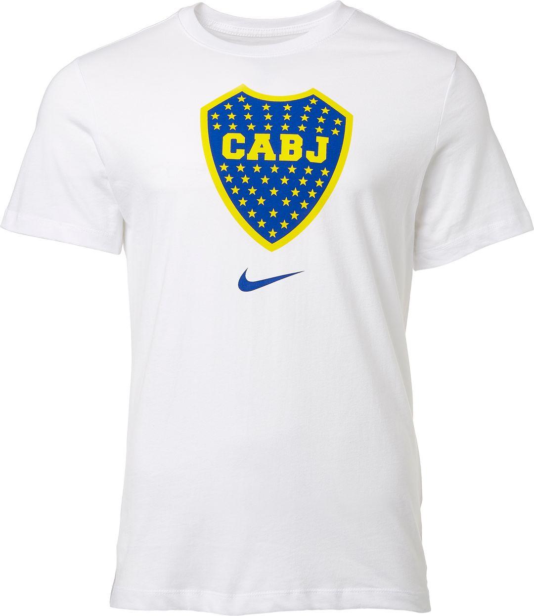 official photos 9053e 28267 Nike Men's Boca Juniors '19 Crest White T-Shirt