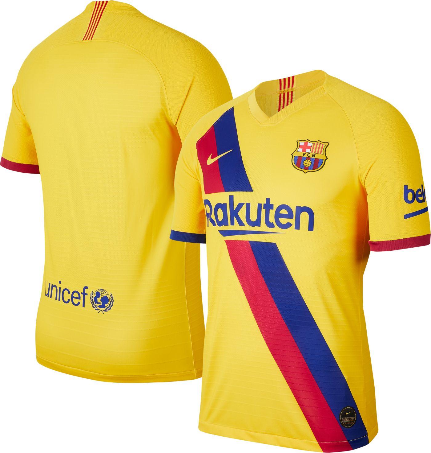 Nike Men's FC Barcelona '19 Vapor Authentic Match Away Jersey