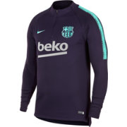Nike Men's FC Barcelona Navy Quarter-Zip Pullover