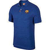 Nike Men's FC Barcelona Blue Polo