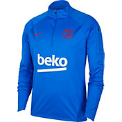 Nike Men's FC Barcelona Blue Training Quarter-Zip