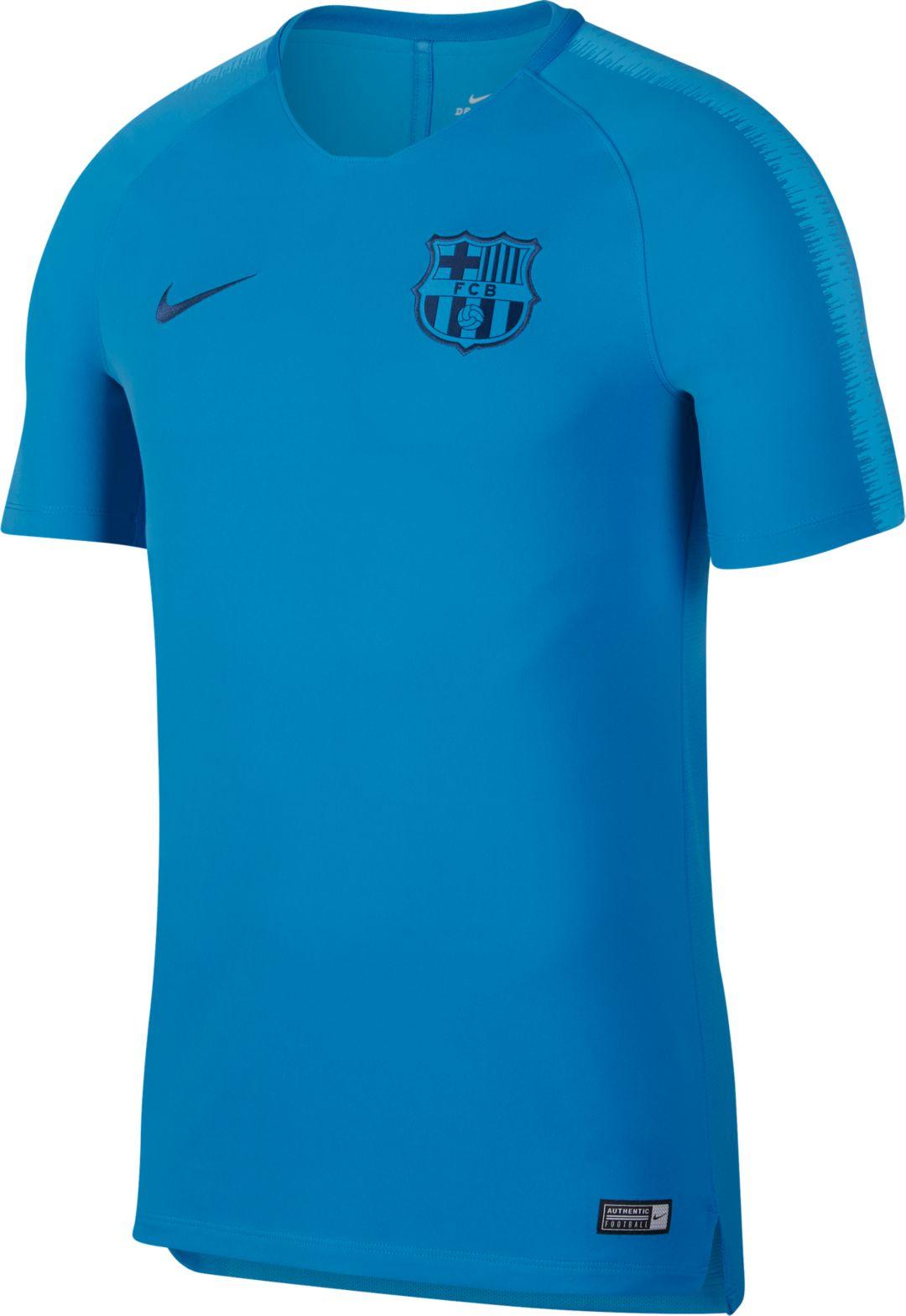 38ade332229 Nike Men s FC Barcelona Blue Training Top 1