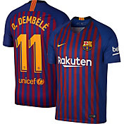 Nike Men's FC Barcelona Ousmane Dembele #11 2018 Breathe Stadium Home Replica Jersey