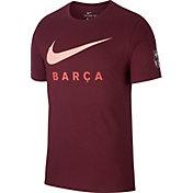 Nike Men's FC Barcelona Swoosh Maroon T-Shirt