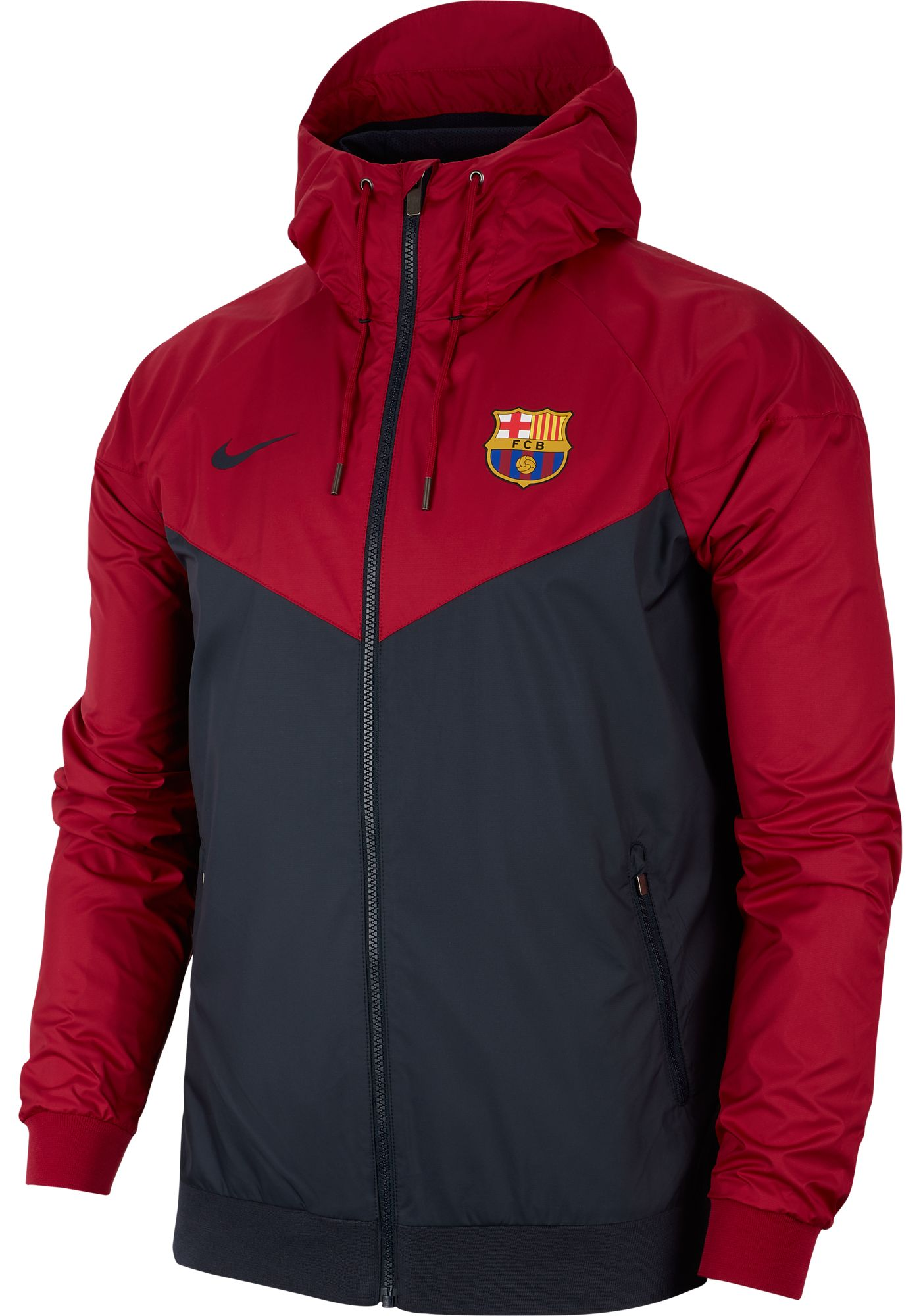 Nike Men's FC Barcelona Windrunner Authentic UNX Maroon Full-Zip Jacket