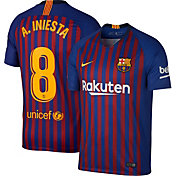 Nike Men's FC Barcelona Andrew Iniesta #8 2018 Breathe Stadium Home Replica Jersey