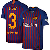 Nike Men's FC Barcelona Gerard Pique #3 2018 Breathe Stadium Home Replica Jersey