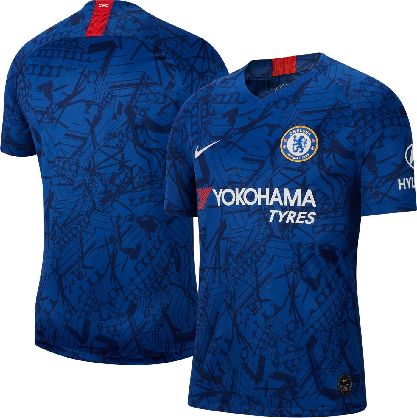 Nike Men's Chelsea FC '19 Breathe Stadium Home Replica Jersey