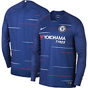 Nike Men's Chelsea FC 2018 Breathe Stadium Home Replica Long Sleeve Jersey