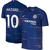 Nike Men's Chelsea FC Eden Hazard #10 2018 Breathe Stadium Home Replica Jersey