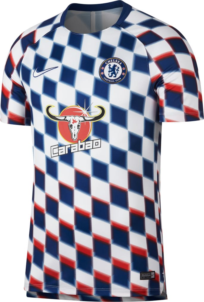 sports shoes caad8 44785 Nike Men's Chelsea FC Checkered Prematch Top