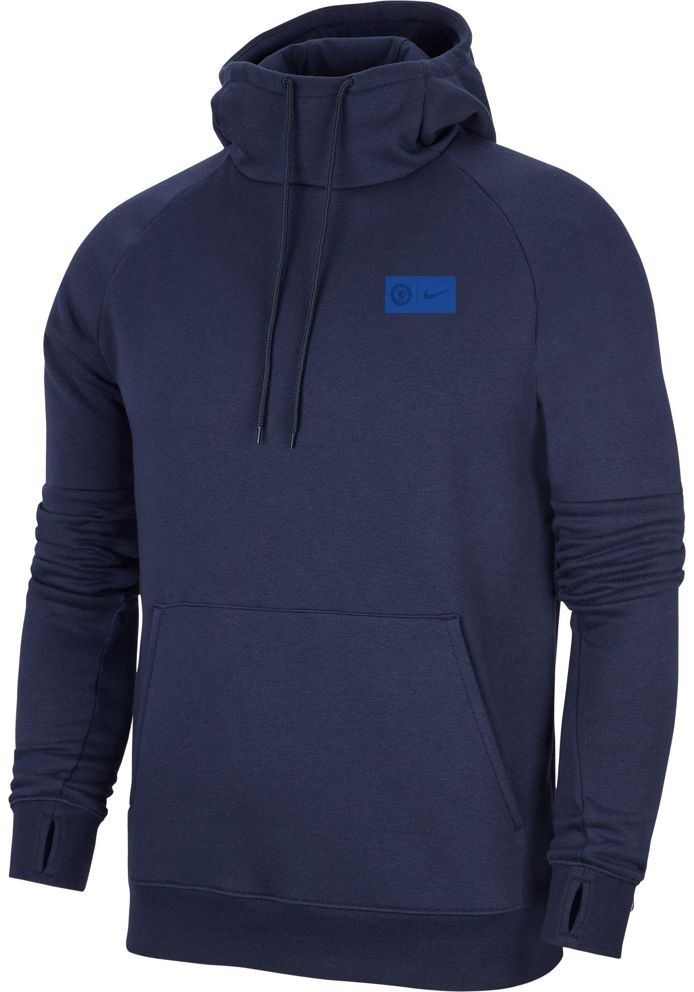 Nike Men's Chelsea FC Fleece Navy Pullover Hoodie