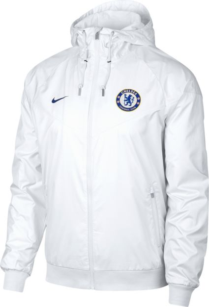 d8cf0930ba Nike Men s Chelsea FC White Full-Zip Windrunner Jacket. noImageFound