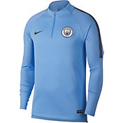 Nike Men's Manchester City Blue Quarter-Zip Pullover