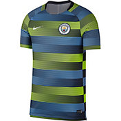 Nike Men's Manchester City Blue Prematch Top