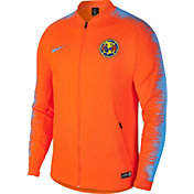 Nike Men's Club America Anthem Orange Full-Zip Jacket