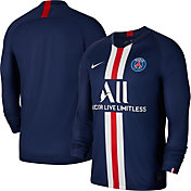 Nike Men's Paris Saint-Germain '19 Breathe Stadium Home Long Sleeve Replica Jersey