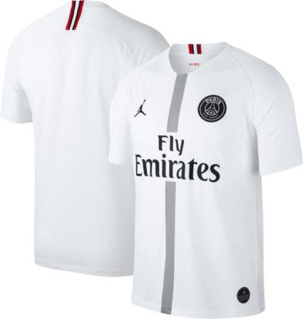 Jordan Men s Paris Saint-Germain 18 19 Breathe Stadium White Third ... fb53cbd26