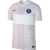 Nike Men's Paris Saint-Germain '19 Prematch White Performance Shirt