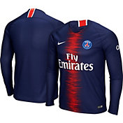 Nike Men's Paris Saint-Germain 2018 Breathe Stadium Home Replica Long Sleeve Jersey