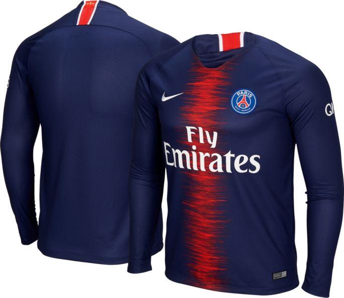 d21da27e Nike Men's Paris Saint-Germain 2018 Breathe Stadium Home Replica Long  Sleeve Jersey 1