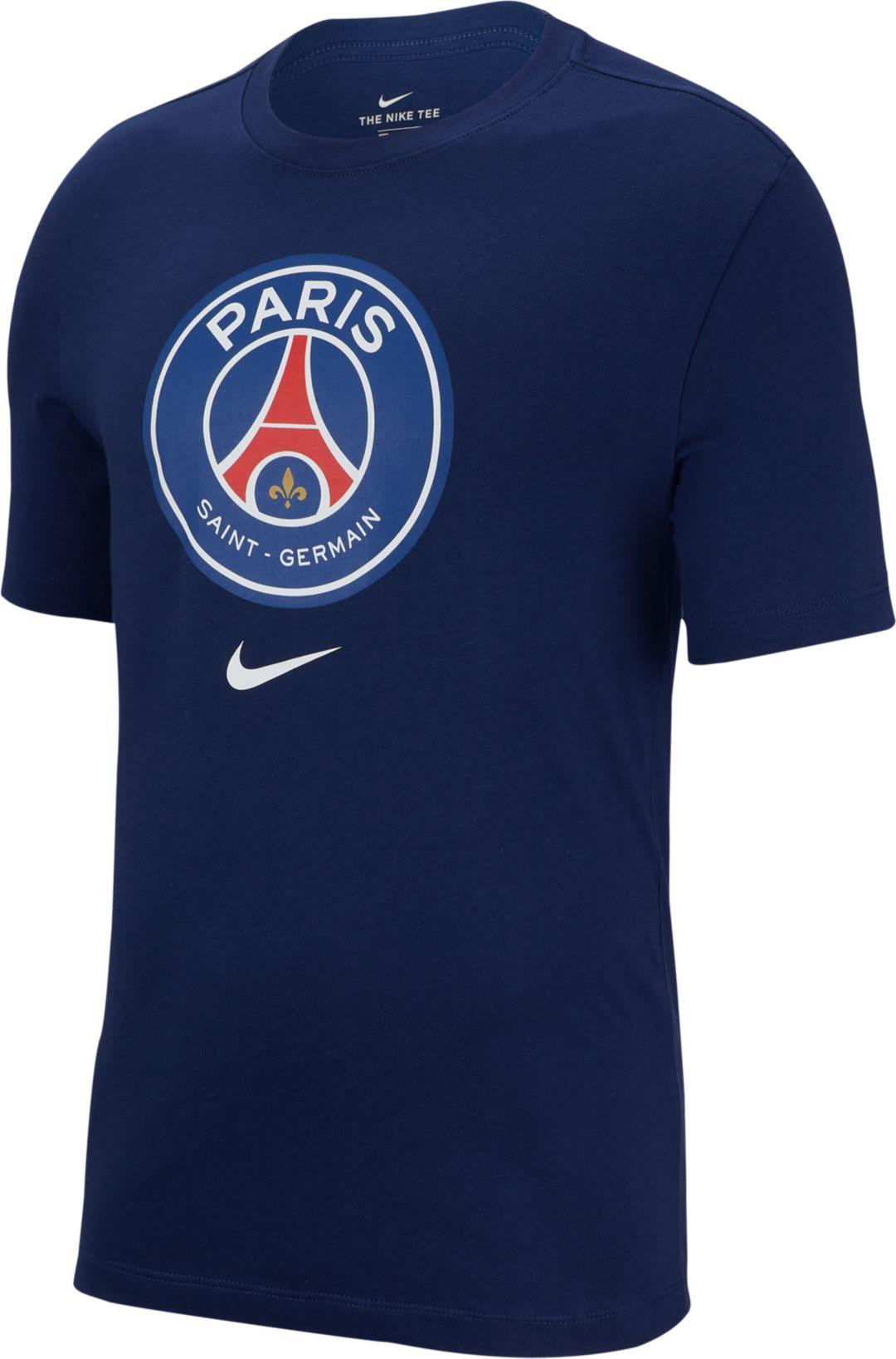 pretty nice 2649a 2487a Nike Men's Paris Saint-Germain Crest Navy T-Shirt