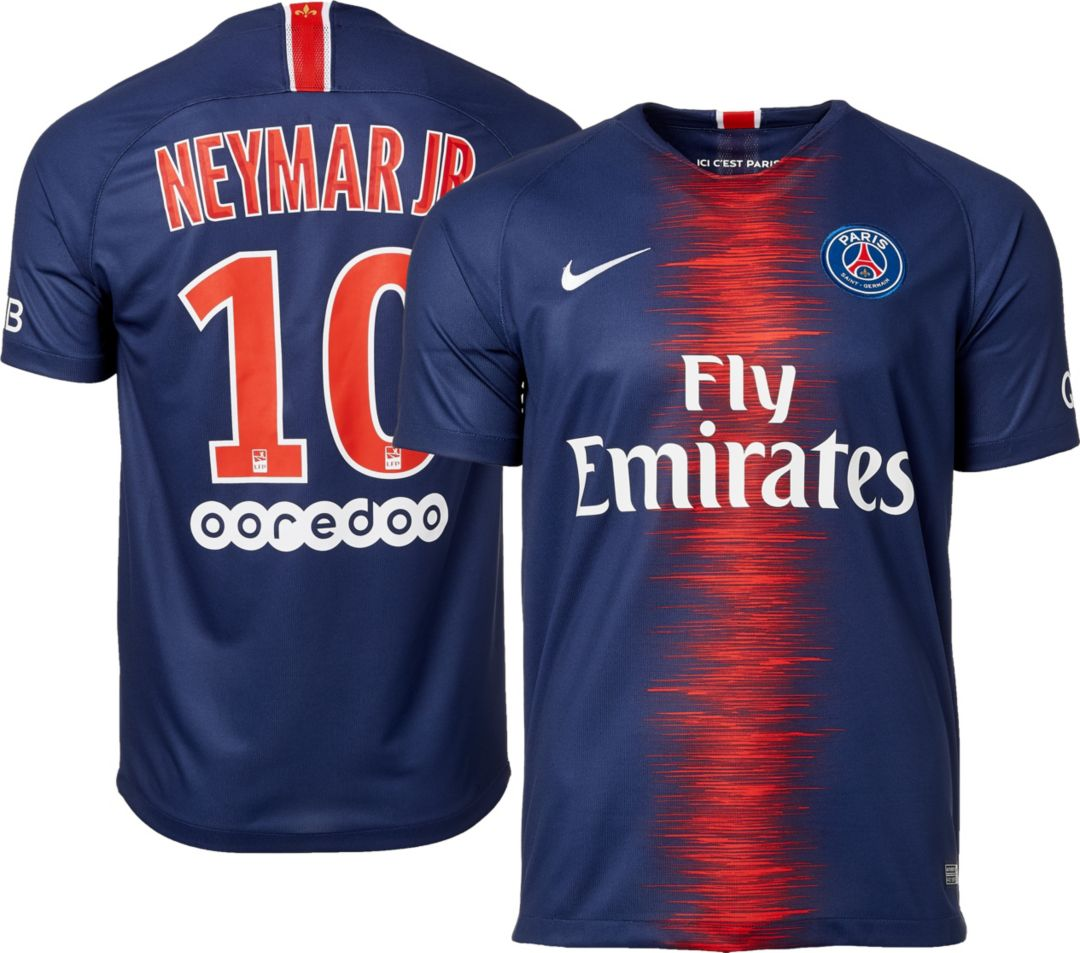 info for 0d393 4a541 Nike Men's Paris Saint-Germain Neymar #10 2018 Breathe Stadium Home Replica  Jersey