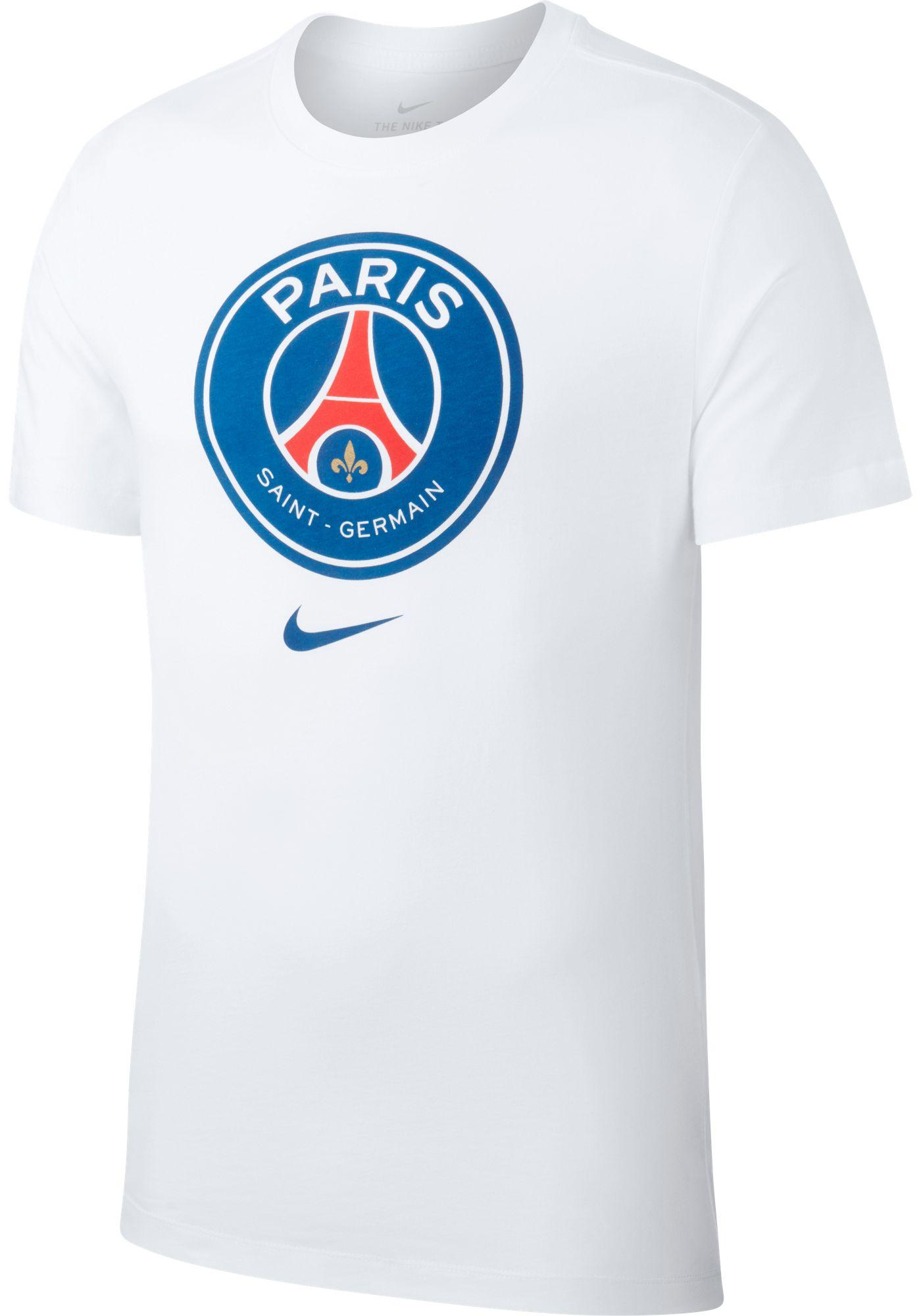 Nike Men's Paris Saint-Germain Crest White T-Shirt