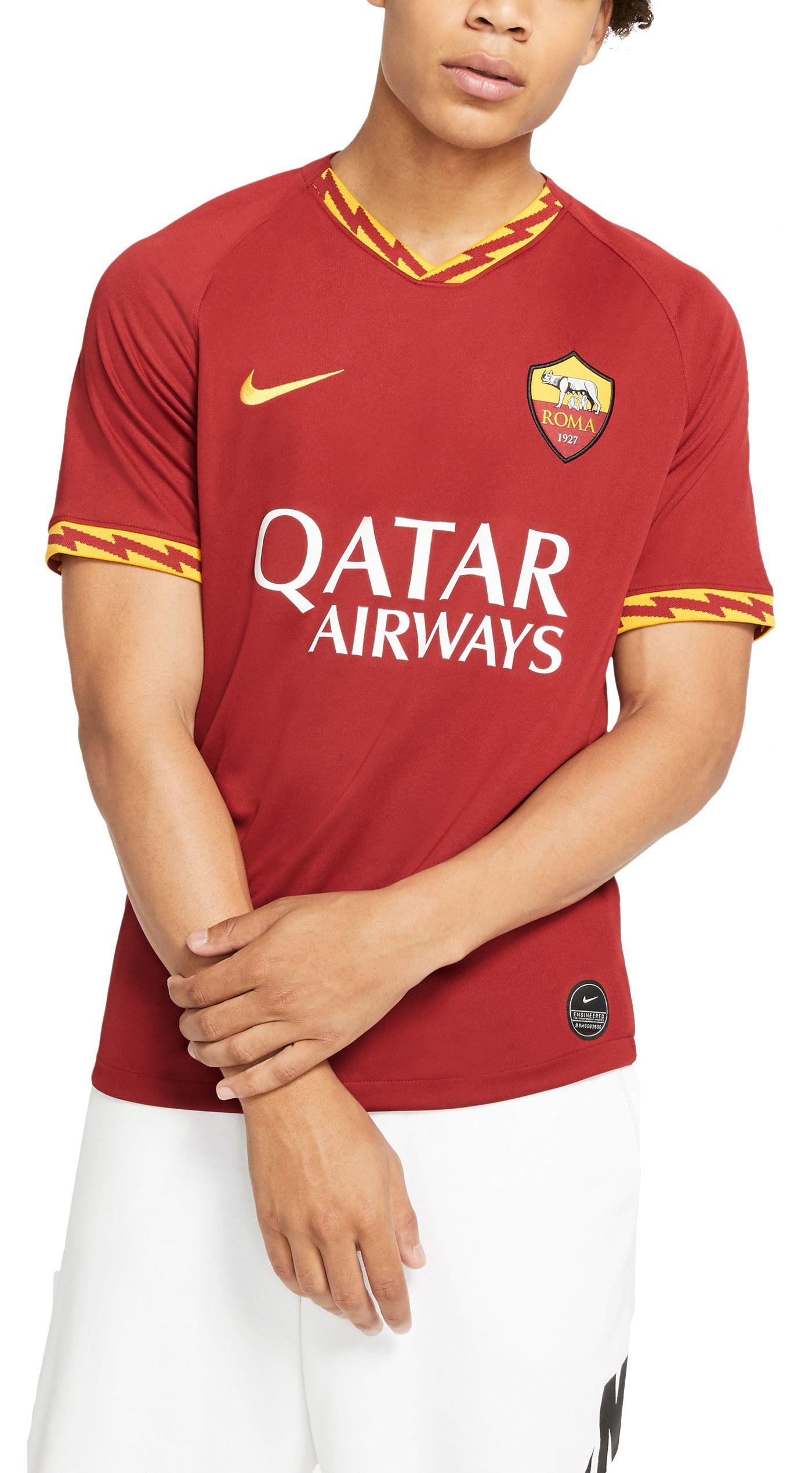 Nike Men's AS Roma '19 Breathe Stadium Home Replica Jersey