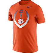 Nike Men's Clemson Tigers Orange Dri-FIT Cotton Football Icon T-Shirt