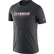 Nike Men's Clemson Tigers Grey Football Dri-FIT Cotton Facility T-Shirt