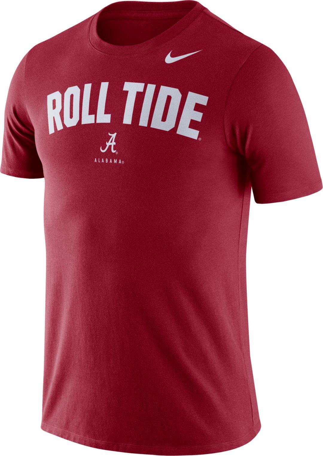 best service 9bca0 fa91d Nike Men's Alabama Crimson Tide Crimson Dri-FIT Phrase T-Shirt
