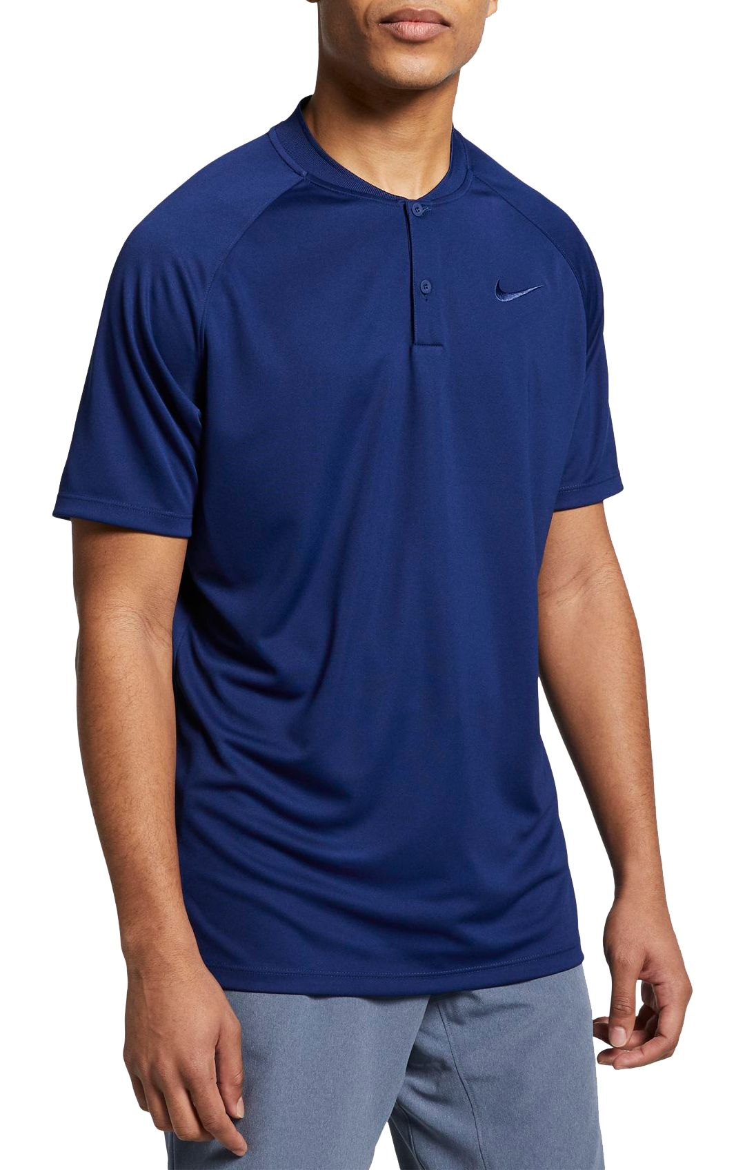 e8ee61c4bf4ce Nike Men's Dry Momentum Blade Collar Golf Polo | DICK'S Sporting Goods