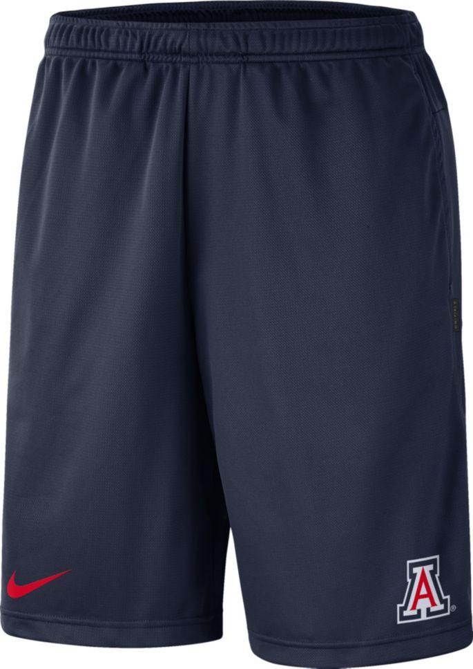 Nike Men's Arizona Wildcats Navy Dri FIT Coach Shorts